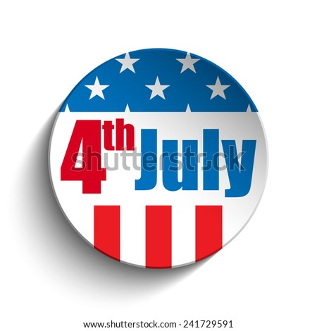 Vector - United States Independence Day Button - stock vector