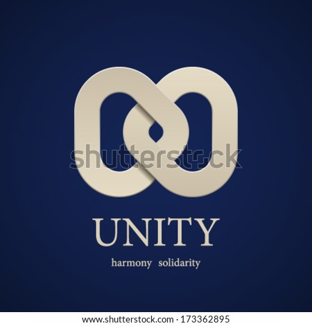 vector unity symbol design template - stock vector