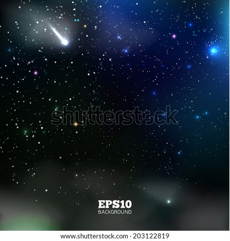 Vector Universe background for presentation design. Brochure star and space template - stock vector