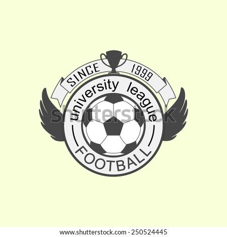 Vector university league logo template - stock vector