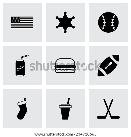 Vector Usa Icon Set On Grey Background Stock Vector