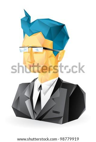 Vector user icon of man - stock vector