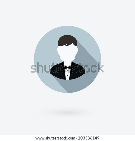 Vector user icon of man in business suit. - stock vector