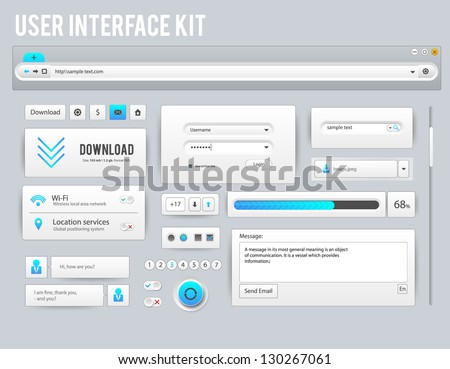 Vector user interface kit - stock vector