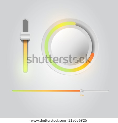 Vector user interface scanning elements - stock vector