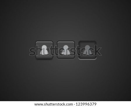 Vector user / login button - stock vector
