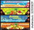 Vector vacation banners set 4. To see similar, please VISIT MY PORTFOLIO   - stock vector