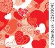 Vector valentine background (seamless pattern) - stock vector