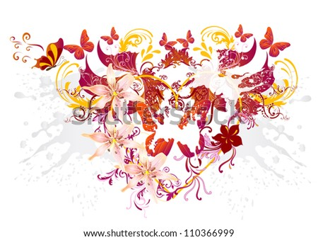 vector valentine heart beautiful for your design. - stock vector