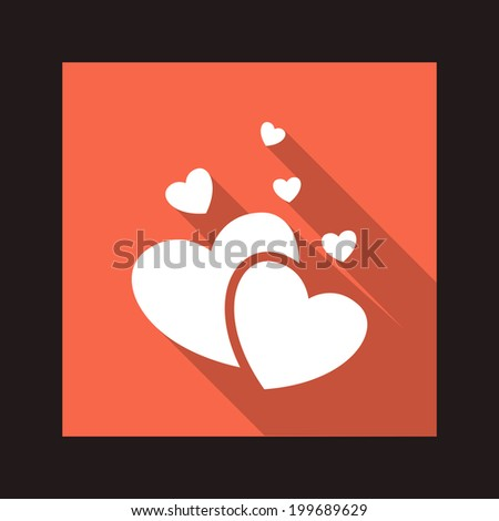 Vector valentine heart flat icon