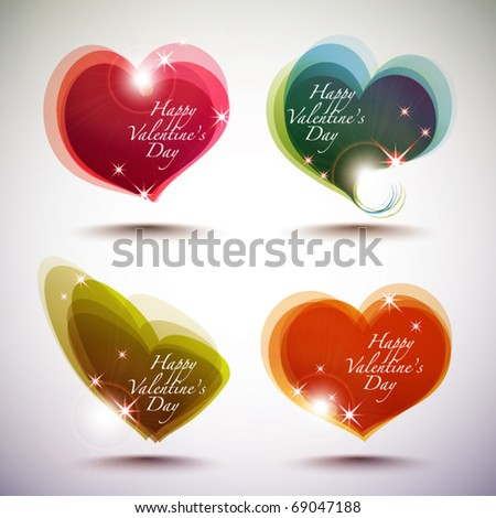 Vector Valentine's Day Card Element - stock vector
