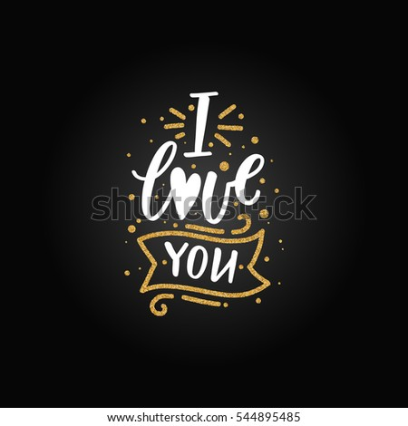 Vector Valentines Day Card Black Gold Stock Vector ...