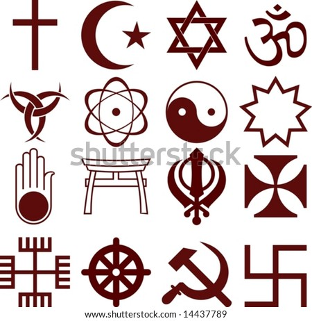 Vector Various Religious Symbols Stock Vector Hd Royalty Free