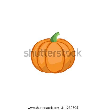 Vector Vegetables - Pumpkin - stock vector