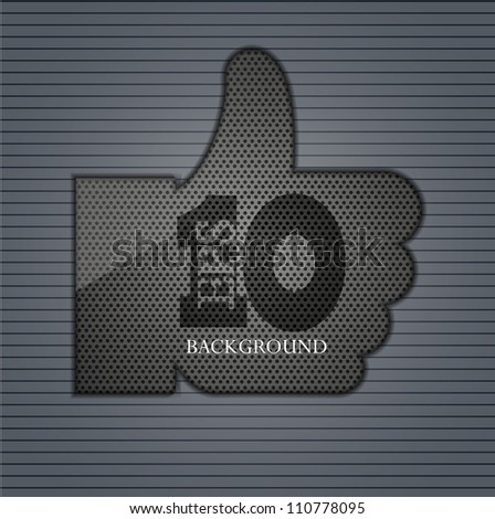 Vector version. Like icon. Eps 10 illustration. Easy to edit - stock vector