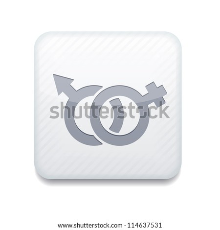 Vector version. Male and female icon. Eps 10 illustration. Easy to edit - stock vector