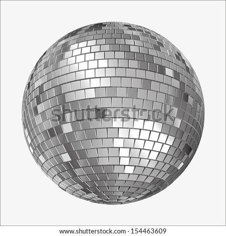 Vector Version of  a Mirrorball, Mirror Ball, Disco Ball, Discoball or Spiegelkugel, for party flyers - stock vector