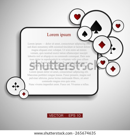 Vector version. Poker frame with cards as a symbol of luck. vector Eps 10 - stock vector