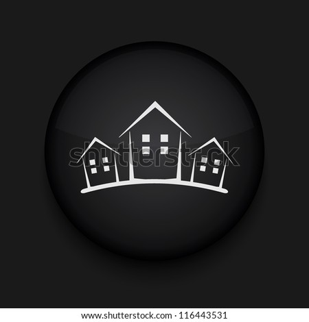 Vector version. Real estate icon. Eps 10 illustration. Easy to edit - stock vector