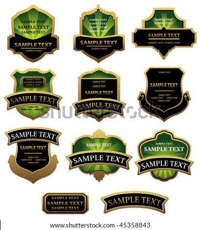 Vector version. Set of labels for design food and beverages. Jpeg version is also available