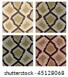 Vector version. Set of snake skin pattern for design or ornate. Jpeg version is also available - stock vector