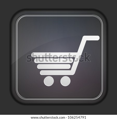 Vector version. Shopping icon. Eps 10 illustration. Easy to edit - stock vector