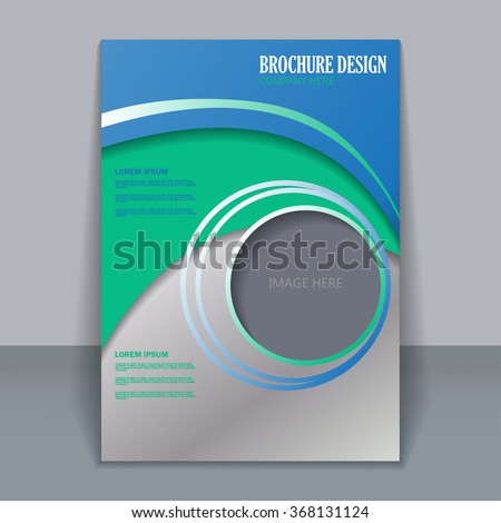 Vector Vertical Flyer Template Design Editable Stock Vector - Template for making a flyer