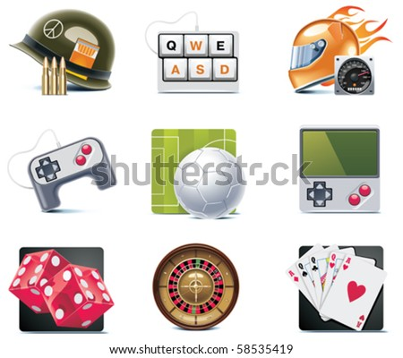 Vector video games icons. Part 1 - stock vector