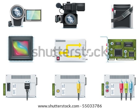 Vector video icons. Part 2 - stock vector