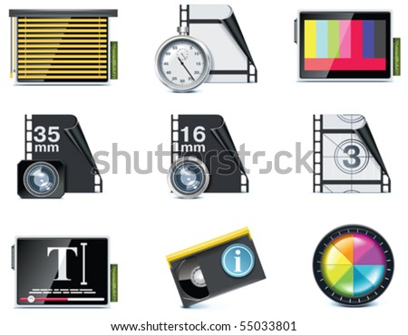 Vector video icons. Part 7 - stock vector