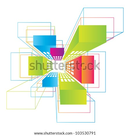 vector view of the city - stock vector