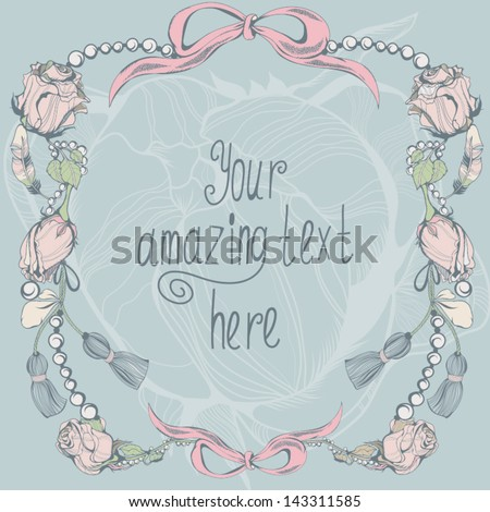 "Vector vintage background ""Jewelry and roses"". - stock vector"