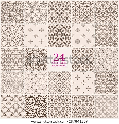 Vector Vintage background. Seamless pattern ornament and decoration design - stock vector