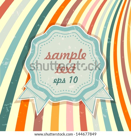 Vector vintage background with an icon and a place for text - stock vector