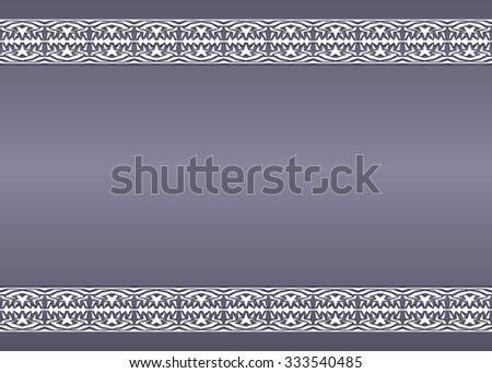 Vector vintage background with ornaments on the edges - stock vector