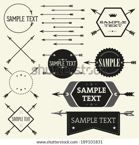 Vector vintage badge and label templates. Great for retro designs - stock vector