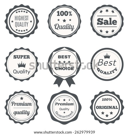 Vector vintage badges. Best choice, premium quality, highest quality and sale. Vector illustration - stock vector