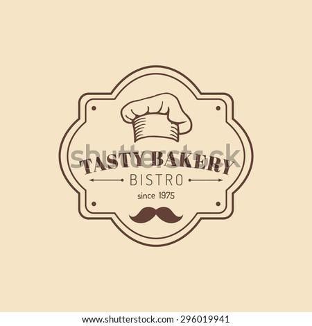 Vector vintage bakery  logo. Retro logotype sweet bakery. Hipster pastry logo. Bakery sign. - stock vector