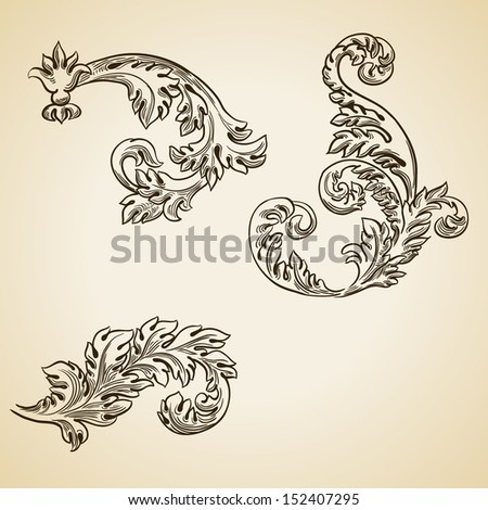Modern flourish vector stock photos illustrations and vector art