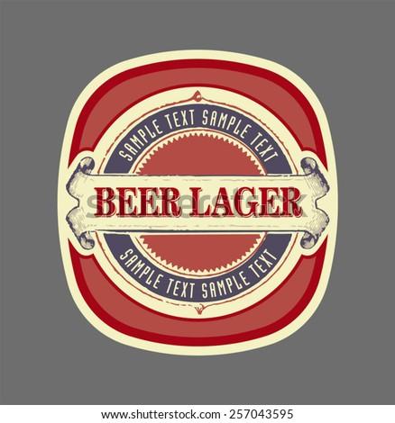 vector vintage beer label - stock vector