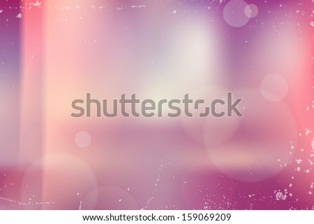Vector vintage blurry unfocused background with light leaks - stock vector