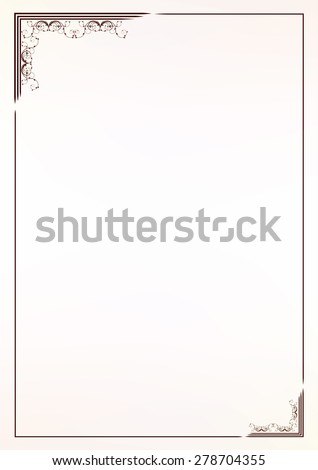 Vector vintage border frame  - stock vector