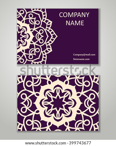 Vector vintage business card set beauty stock vector hd royalty vector vintage business card set beauty designs floral mandala pattern and ornaments front reheart Gallery