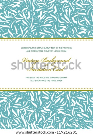 Vector vintage card. Perfect as invitation or announcement. - stock vector
