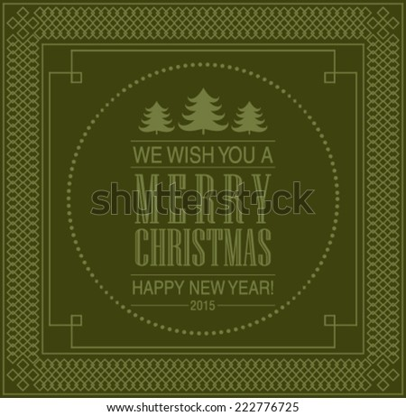 Vector vintage Christmas card. - stock vector