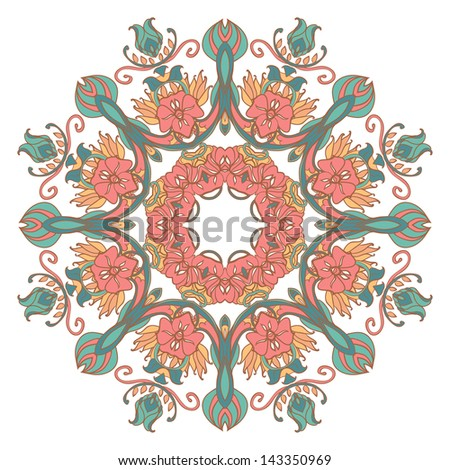 Vector Vintage Circle background