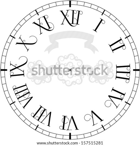Vector vintage clock - stock vector