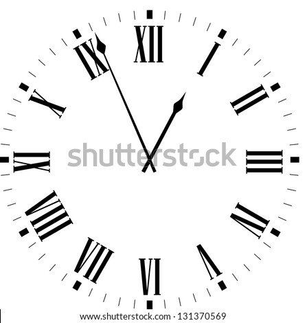 Vector vintage clocks - stock vector