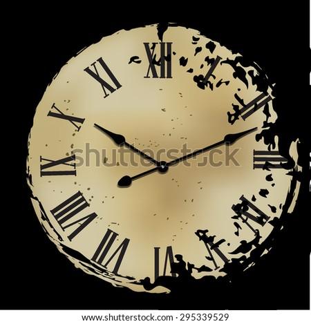 Vector vintage clocks - stock vector