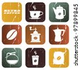 Vector vintage coffee poster with place for your text - stock photo